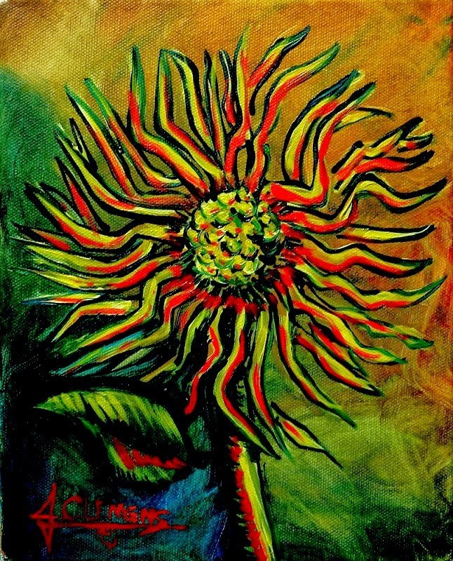 """Flower 2"" original fine art by Jolynn Clemens"