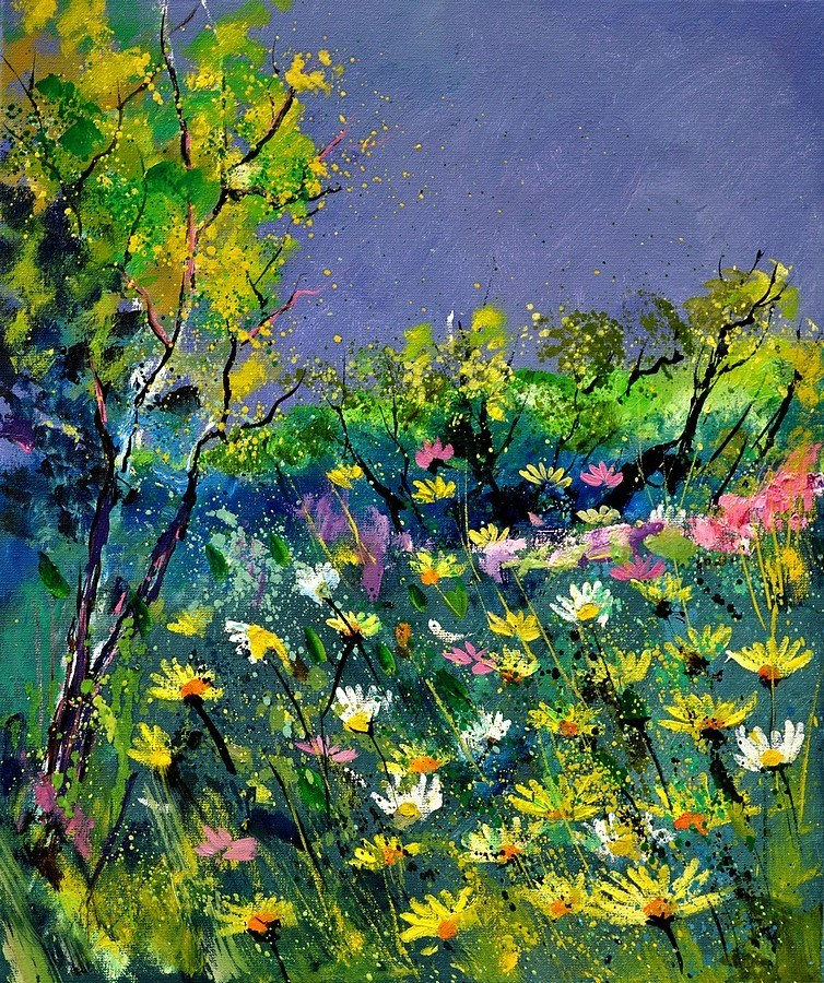 """summer 563101"" original fine art by Pol Ledent"