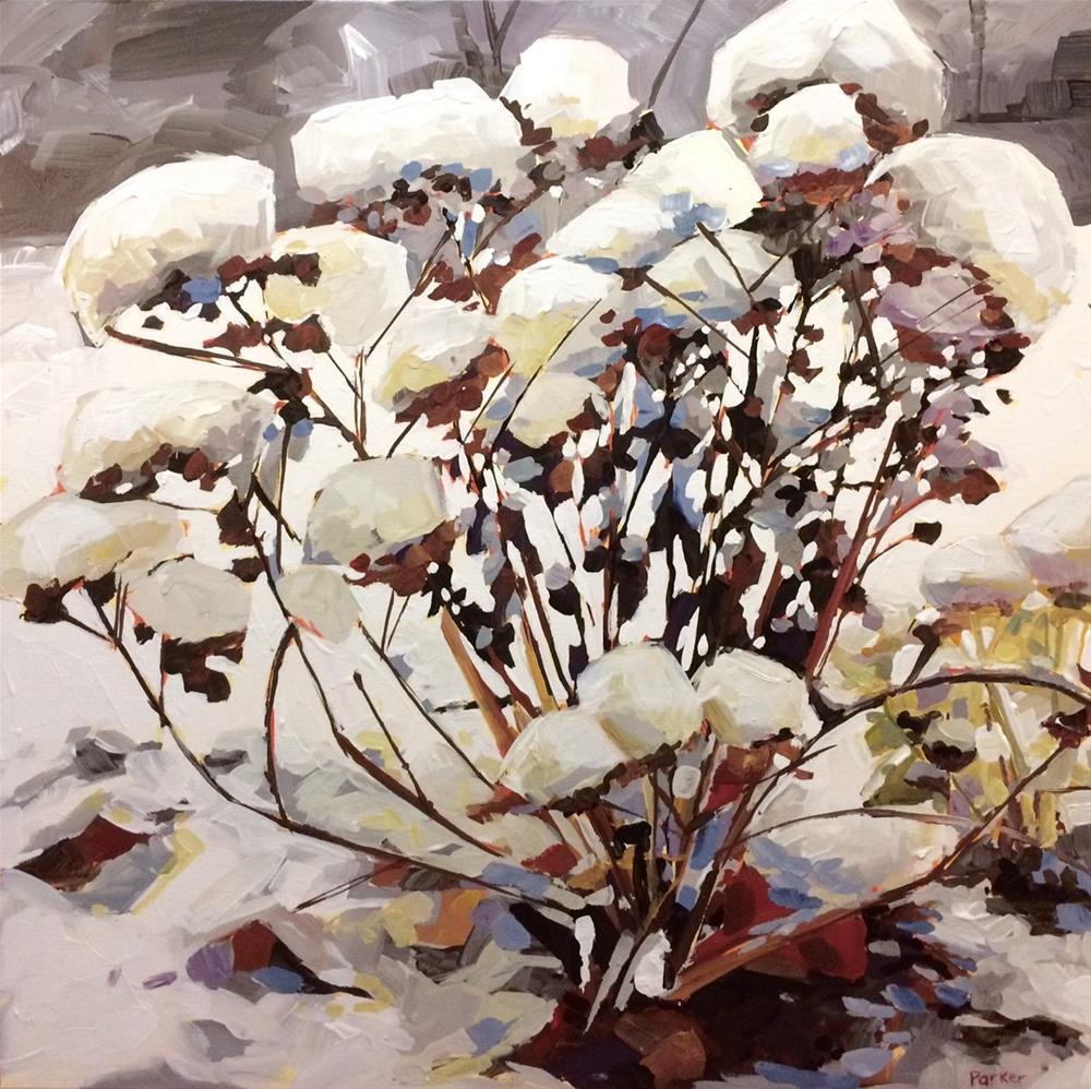 """Winter Succulent"" original fine art by Teddi Parker"