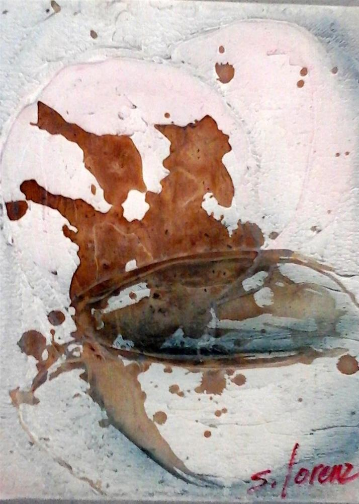 """Cowboy coffee spill"" original fine art by Sue Lorenz"
