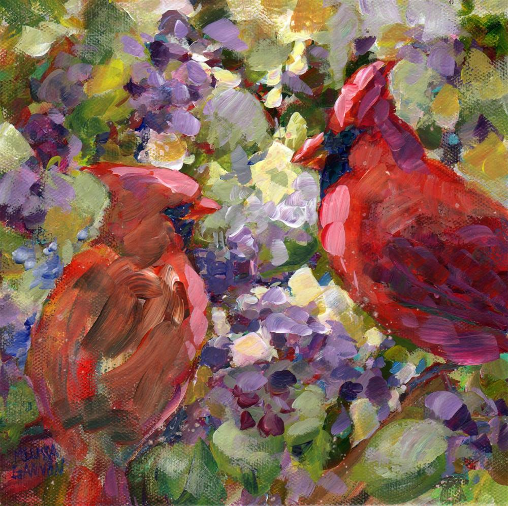 """Beauty Berry Romance"" original fine art by Melissa Gannon"