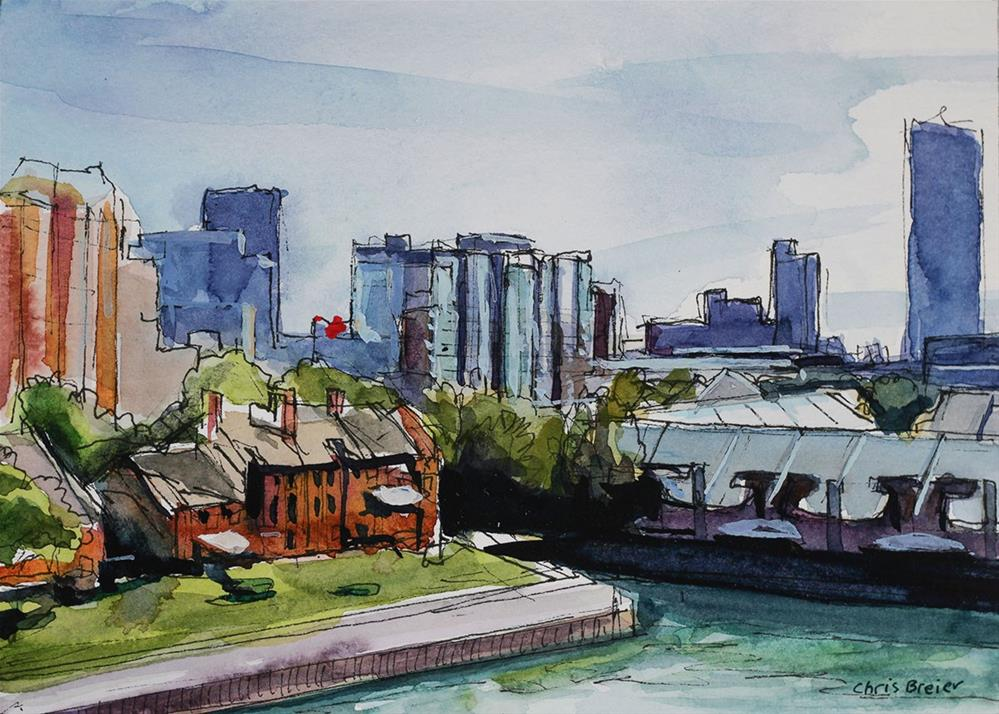 """Buffalo Waterfront"" original fine art by Chris  Breier"