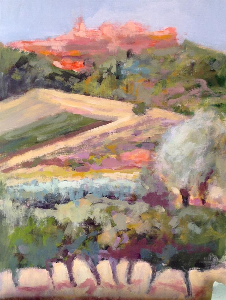 """Below Roussillon"" original fine art by Patricia MacDonald"
