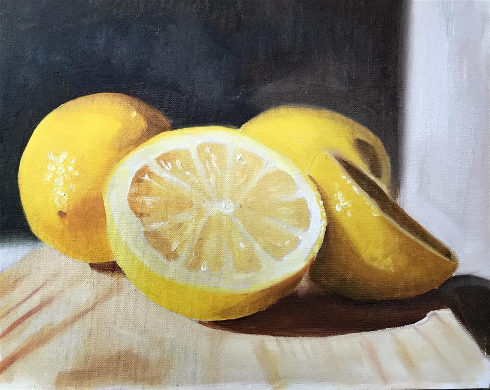 """Lemons"" original fine art by James Coates"