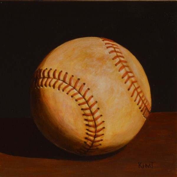 """Foul Ball"" original fine art by Kim Testone"