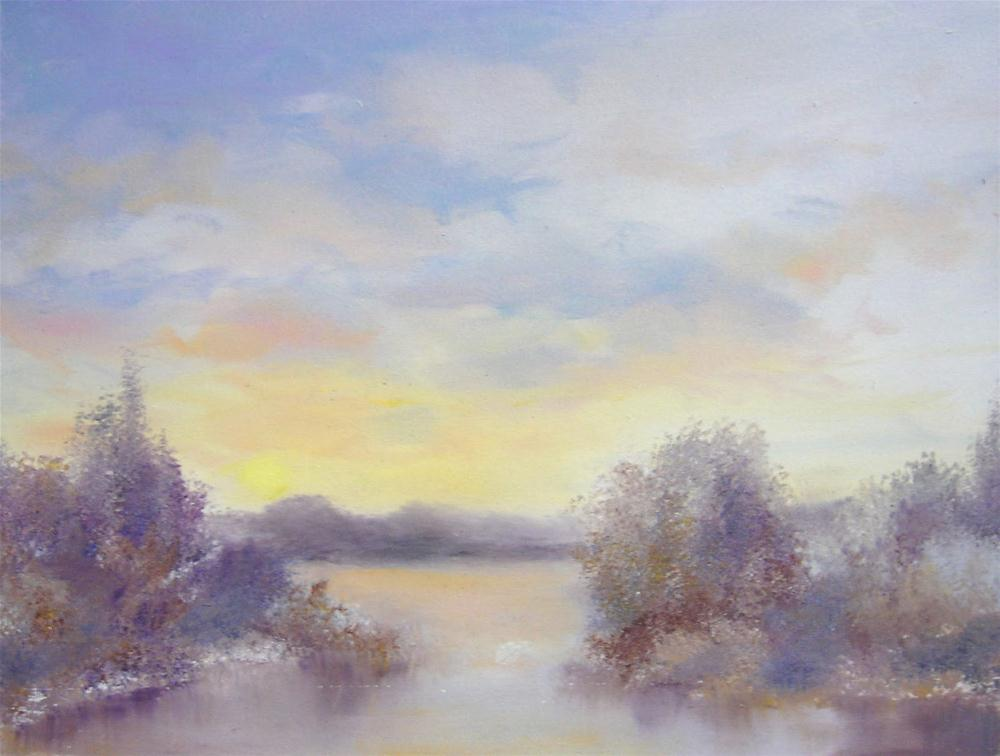 """Frosty Morning"" original fine art by Carol Keene"