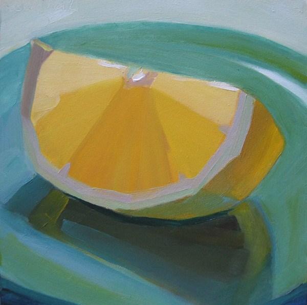 """""""Lemon Slice"""" original fine art by Robin Rosenthal"""