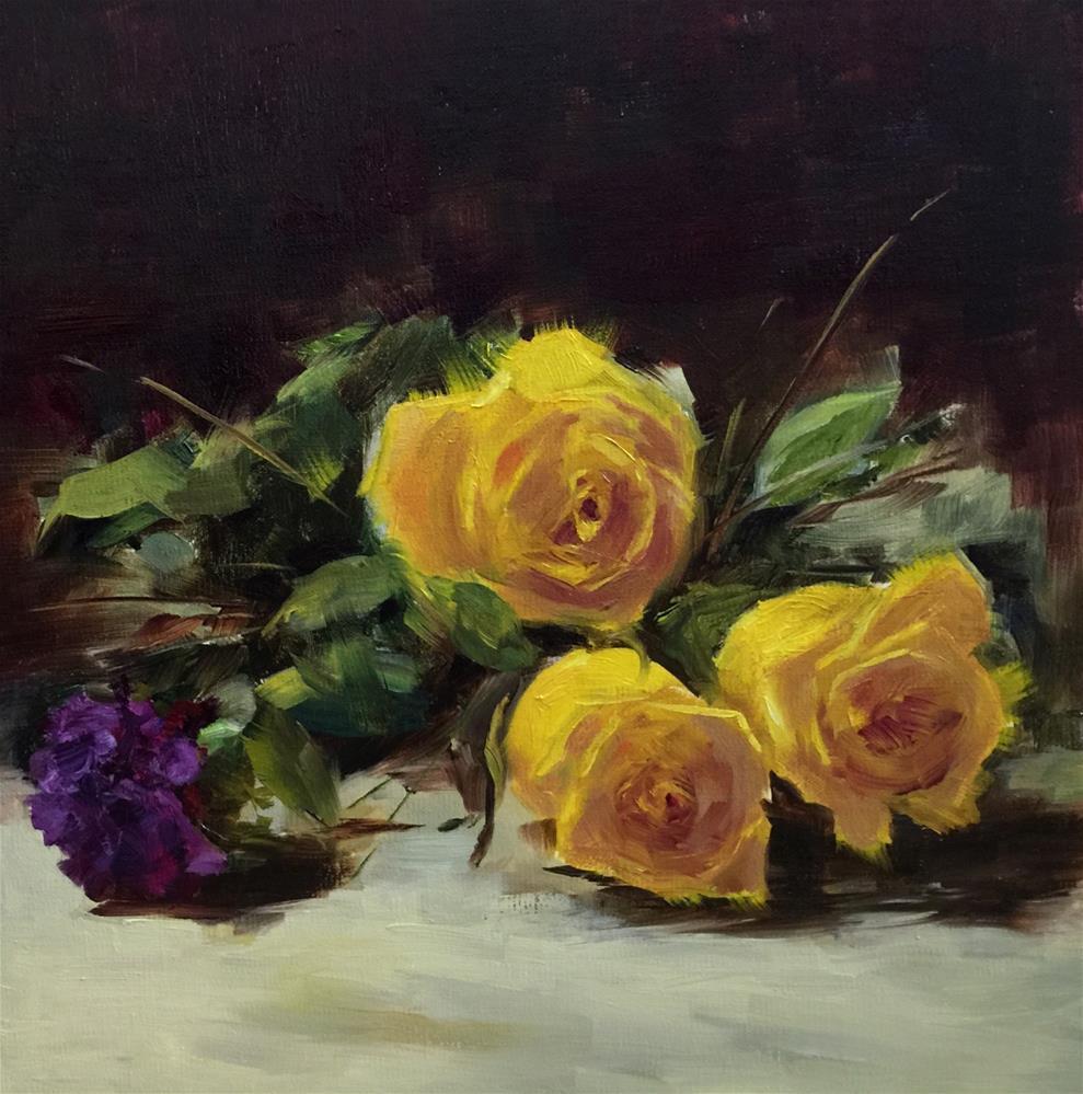 """Simple Abundance"" original fine art by Dorothy Woolbright"