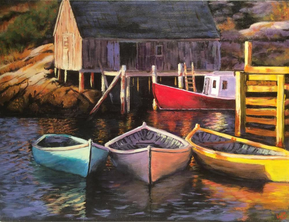 """Peggy's Cove"" original fine art by wendy black"