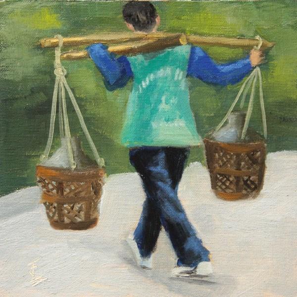 """Huang Shan Porter"" original fine art by Jane Frederick"
