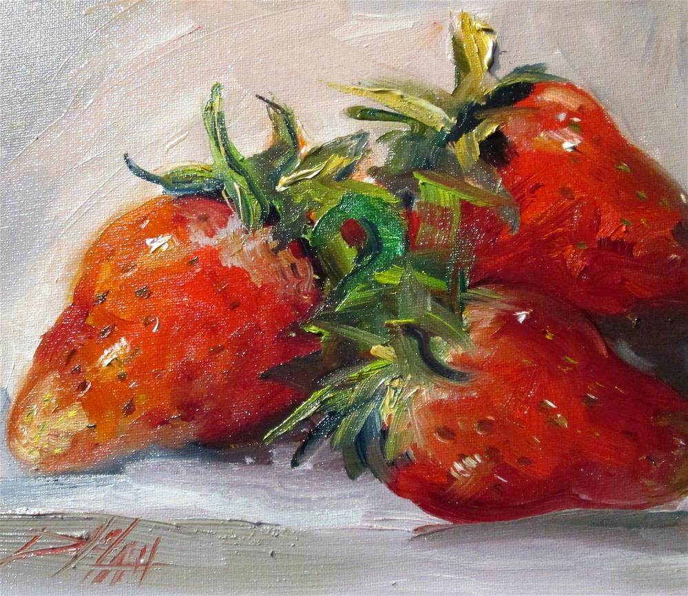 """Strawberries"" original fine art by Delilah Smith"