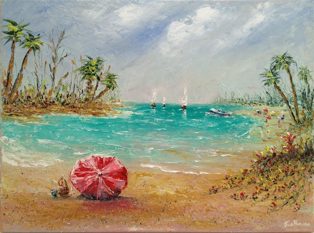 """Day at the Beach"" original fine art by Ken Fraser"