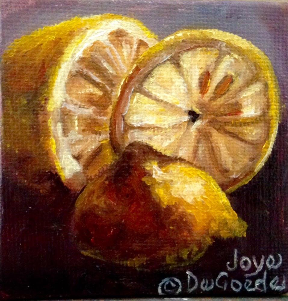 """""""Lemon Study by Joye DeGoede"""" original fine art by Joye DeGoede"""