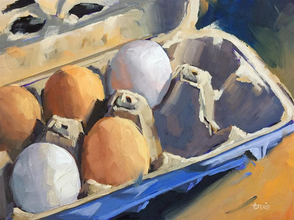 """Farmer's Eggs"" original fine art by Andrea Jeris"