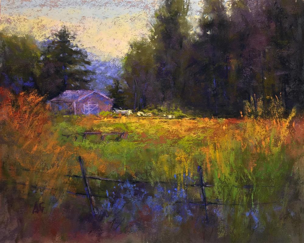 """The barn"" original fine art by Alejandra Gos"