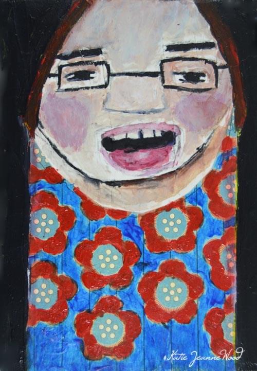"""Choir Girl"" original fine art by Katie Jeanne Wood"