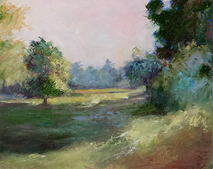 """Truman Park"" original fine art by Cindy Haase"
