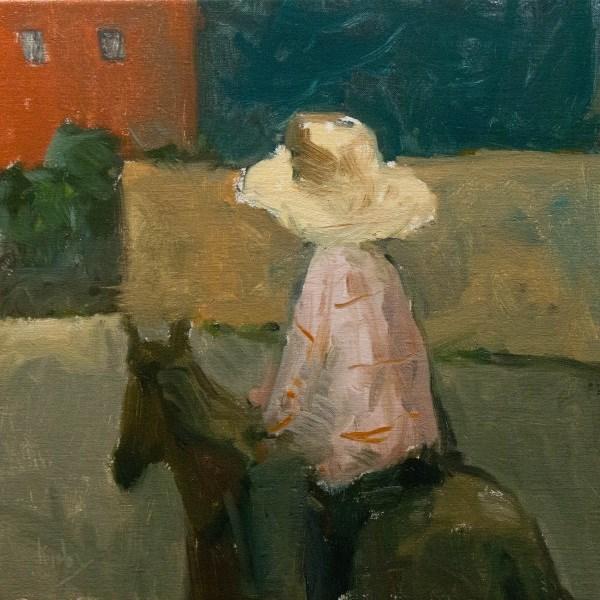 """Sanita By Night"" original fine art by Randall Cogburn"