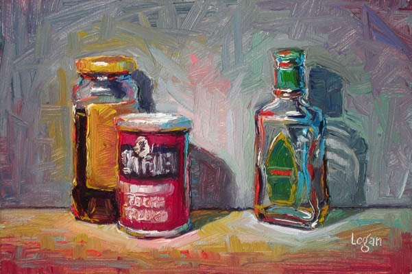 """We Have Molasses, Baking Powder, But No Tequila"" original fine art by Raymond Logan"