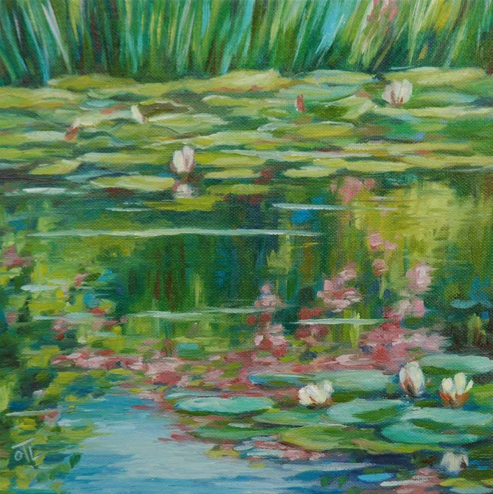 """DCS # 13 Flowery pond"" original fine art by Olga Touboltseva-Lefort"