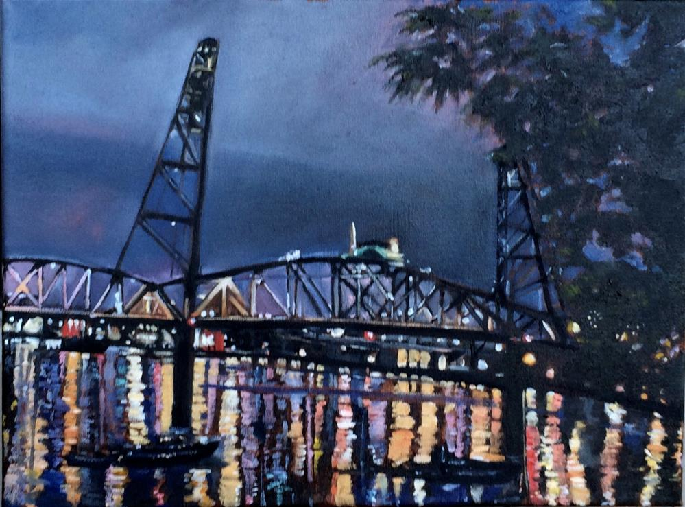 """Hawthorne Bridge"" original fine art by Tamsen Armstrong"