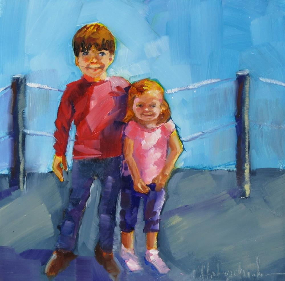 """Lindsey's Kids"" original fine art by Christine Holzschuh"