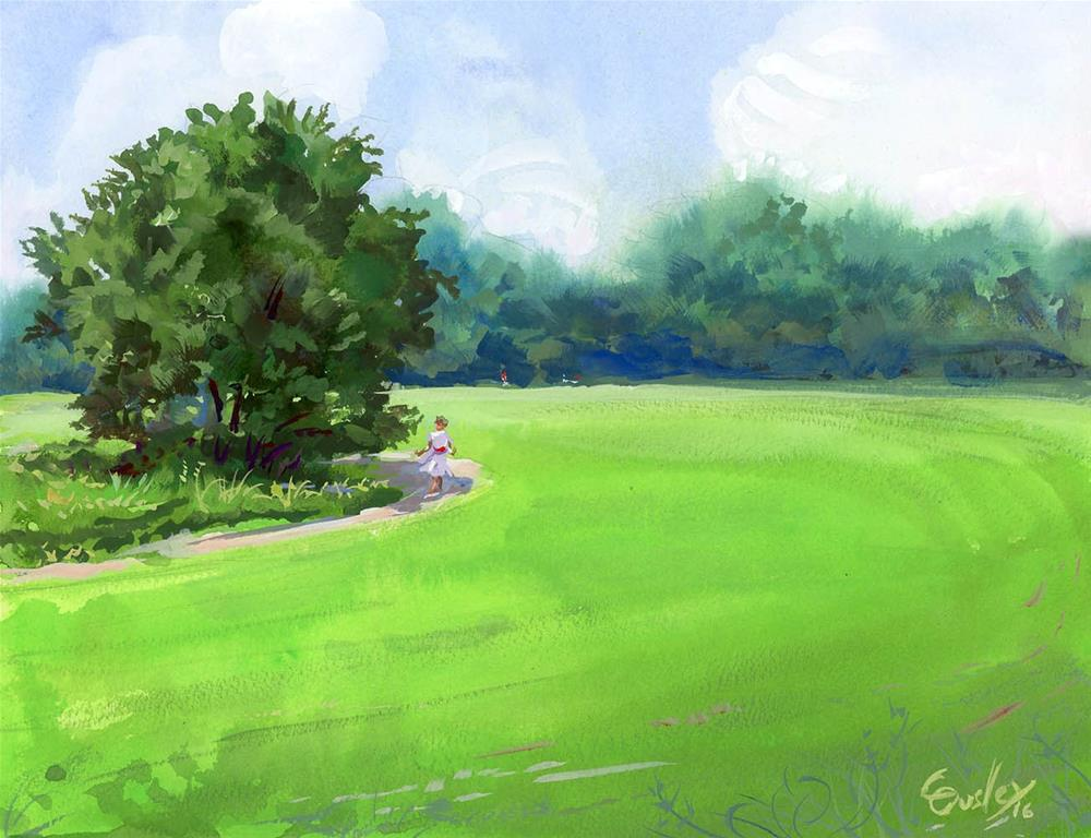 """""""Summer Stroll on a Humid Day"""" original fine art by Chris Ousley"""