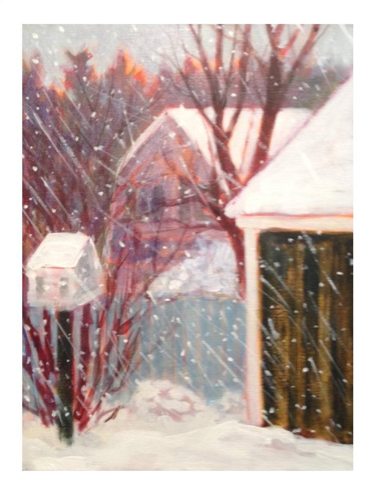 """Snow Storm"" original fine art by Suzanne Woodward"