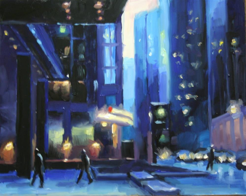 """Winter Blues, Financial District, Toronto"" original fine art by Catherine Jeffrey"