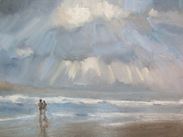 """The light after the rain Seascape study"" original fine art by Astrid Buchhammer"