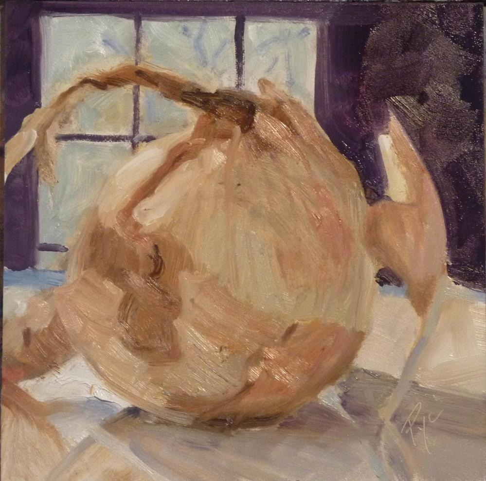 """Onion with Window 6x6"" original fine art by Mary Pyche"