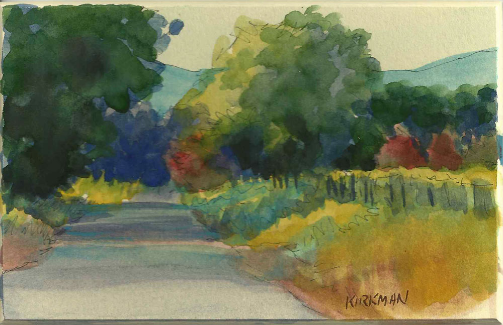 """Road Sketch 5"" original fine art by Rita Kirkman"