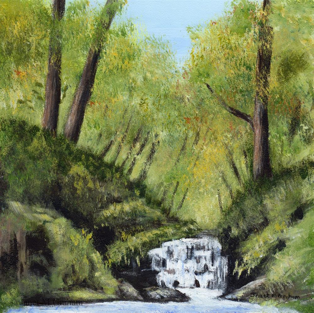 """Waterfall"" original fine art by Janet Graham"