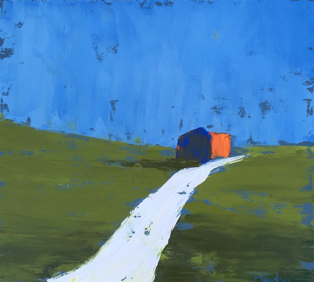 """""""Cottage"""" original fine art by Janet Bludau"""