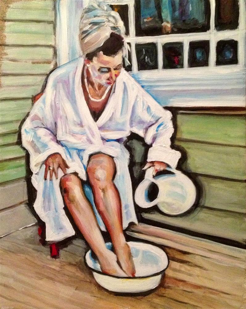 """""""Contemporary Bather"""" original fine art by Paula Howson-Green"""