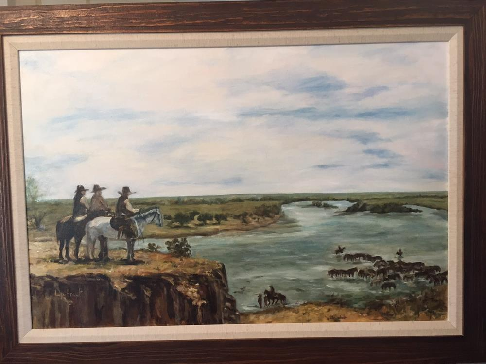 """A RIO GRANDE MOMENT"" original fine art by Lucy Hammett"