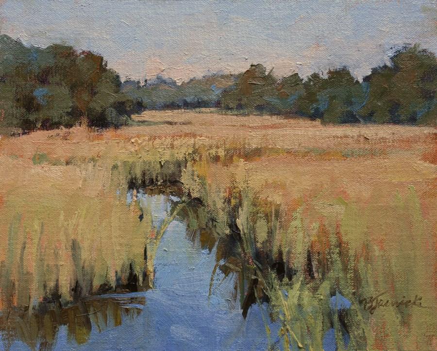 """Shem Creek"" original fine art by Barbara Jaenicke"