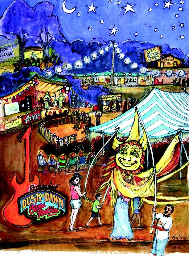 """Rentiesville Festival by Selby Minner"" original fine art by Selby Minner"
