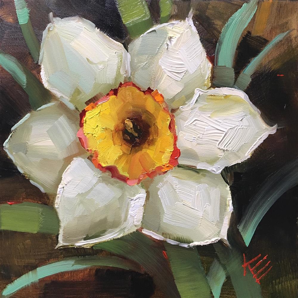 """Daffodil"" original fine art by Krista Eaton"