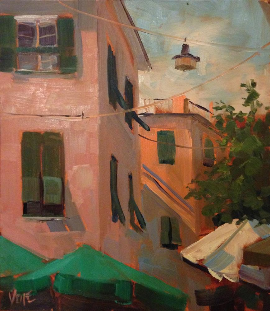 """#170 Cinque Terre, Monteroso, Italy #3"" original fine art by Patty Voje"