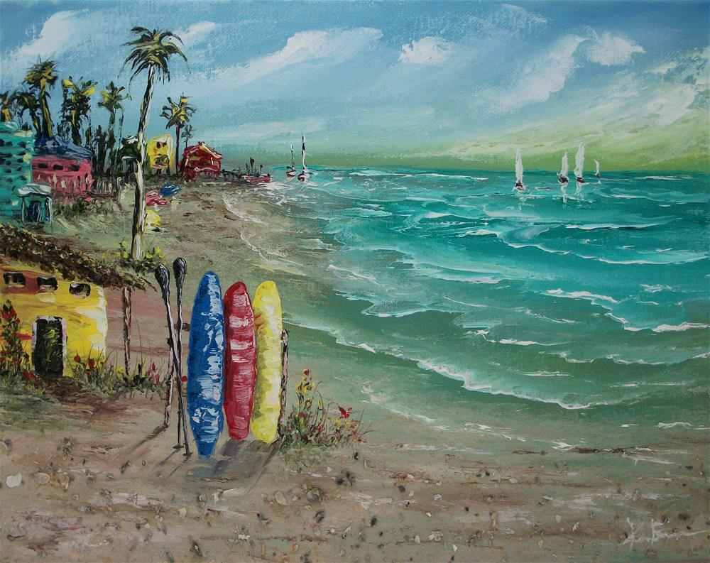 """Resort Beach"" original fine art by Ken Fraser"