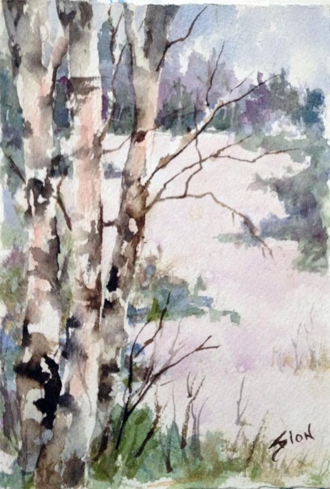 """Winter Field"" original fine art by Sue Dion"