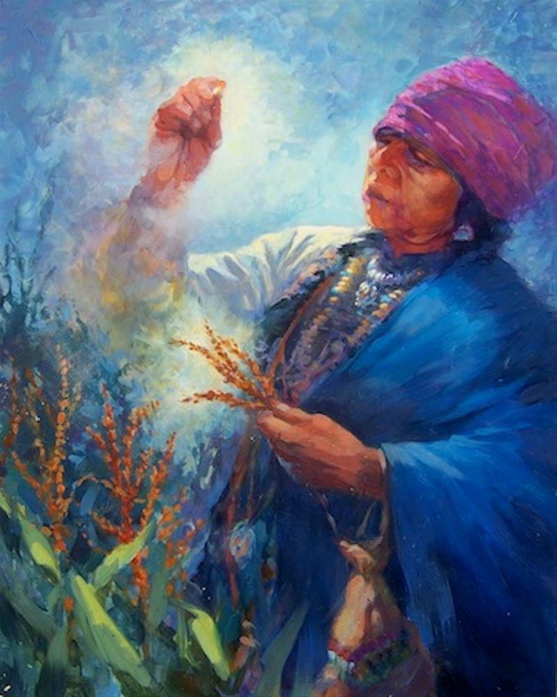 """""""Corn Womyn"""" original fine art by Cedar Kindy"""