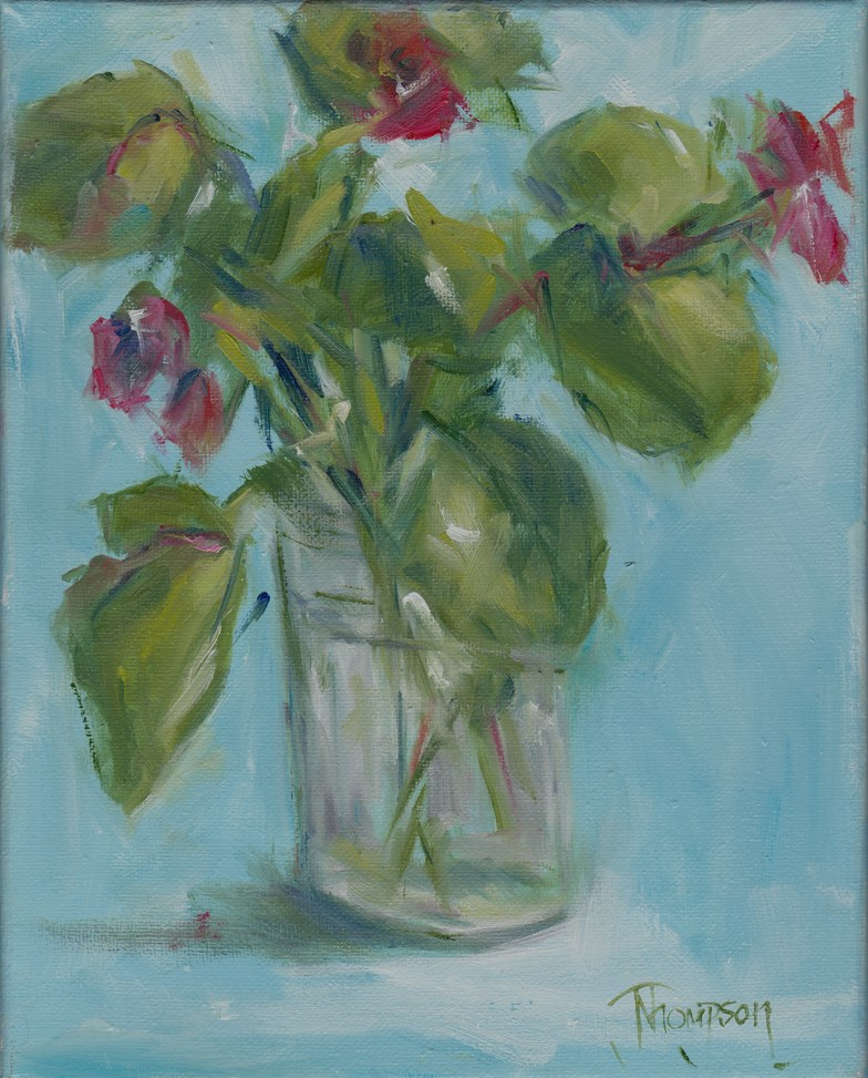 """Begonia 1 "" original fine art by Norma Thompson"