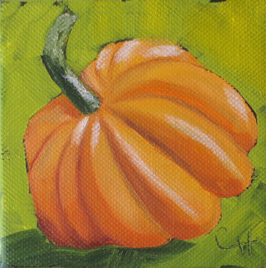 """Little Pumpkin no. 3"" original fine art by Claire Henning"
