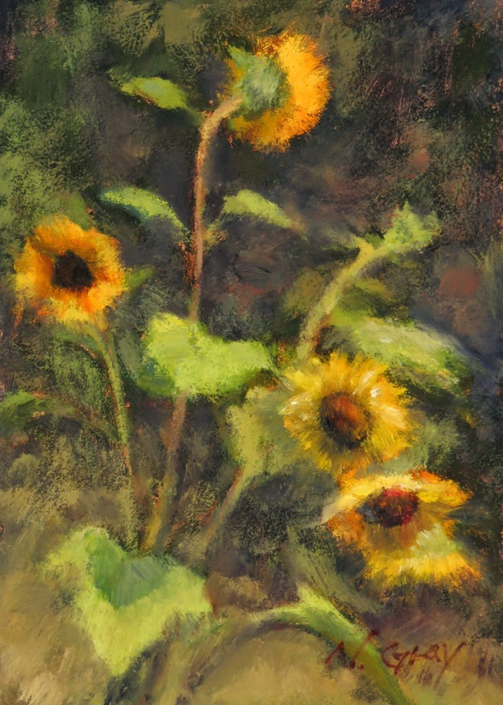 """Sunflowers No. 3"" original fine art by Naomi Gray"