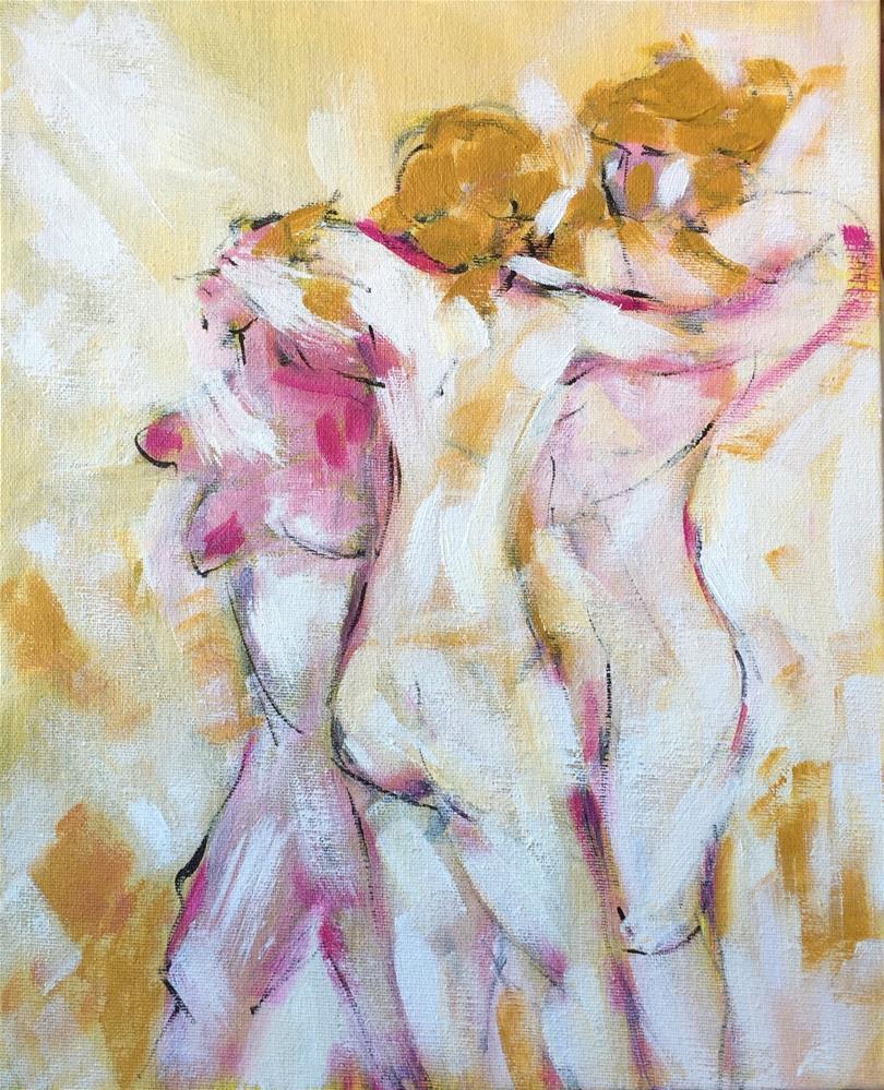 """""""Hugs"""" original fine art by Monica Pinotti"""