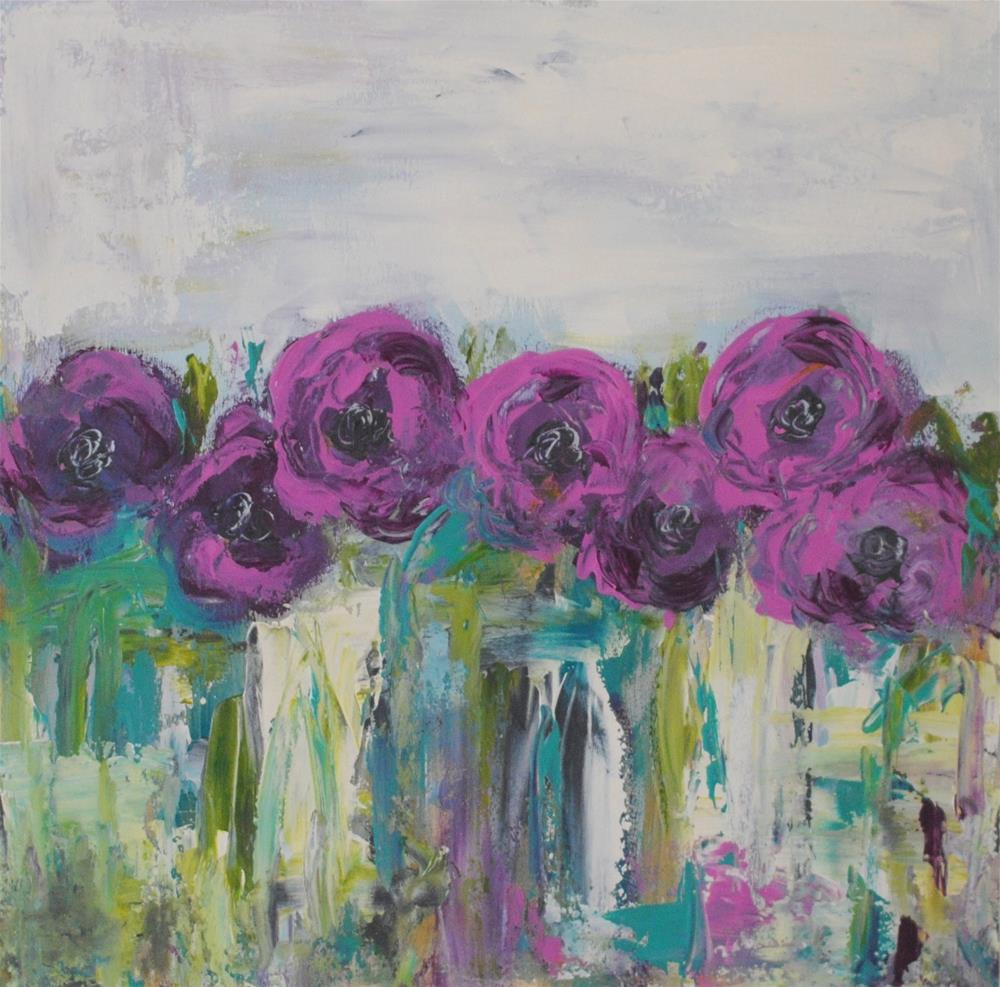 """Wild Purple"" original fine art by Kelly Berkey"
