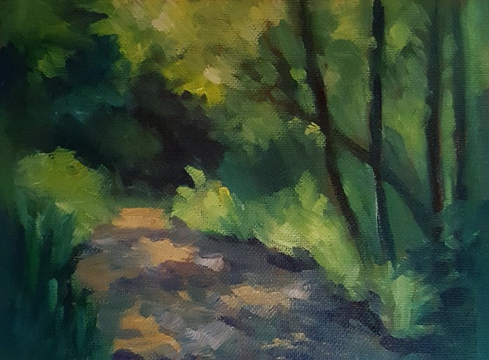 """Dappled Light Study"" original fine art by J M Needham"