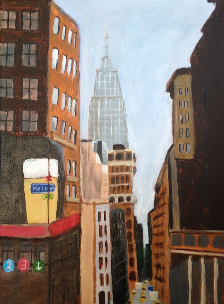 """Empire State Building"" original fine art by Brenda Smith"